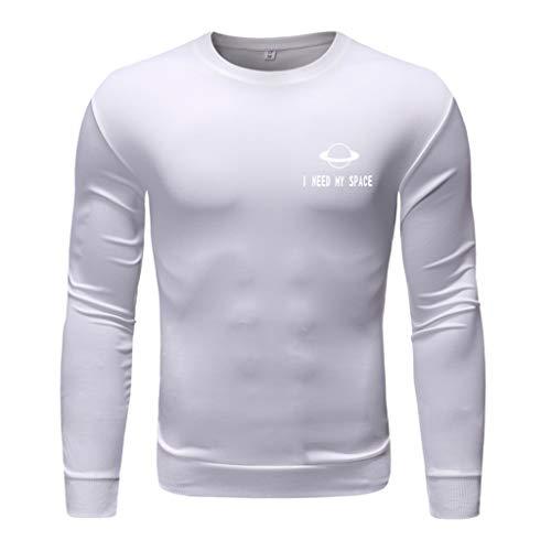 Sylar Sudadera para Hombre Camisetas De Hombre Manga Larga Camisetas Hombre Cuello Redondo con Personalidad Estampado Camiseta Otoño Sudadera Hombre Sin Capucha Camisas Hombre Originales Tops Blusa