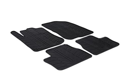 Gledring Set tapis de caoutchouc compatible avec Peugeot 2008 incl. Crossover 2013-2019 (T profil 4-pièces + clips de montage)