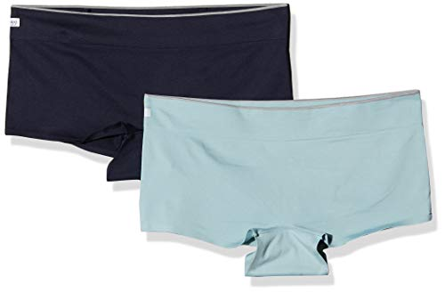 Sloggi Damen Women Move Seamless Shorty C2P Hipster, Mehrfarbig (Turquoise Dark Combination M025), M (2erPack)