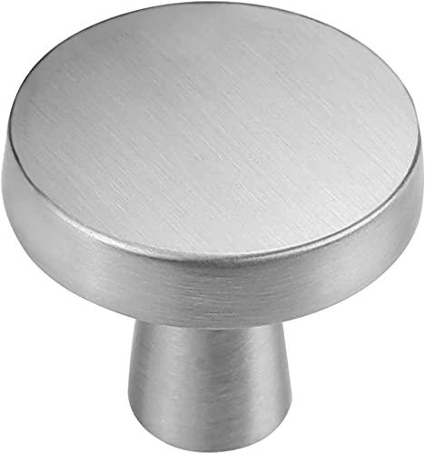 goldenwarm LS5310SNB 1 pomo para cajones y muebles, estilo retro, acero inoxidable cepillado, plateado