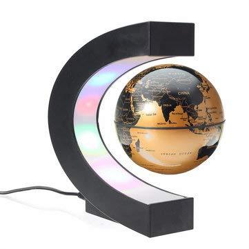 TuToy Schwimmende Magnetschwebebahn Rotierender Globus Weltkartenball Kindergeburtstagsdekoration - Gold
