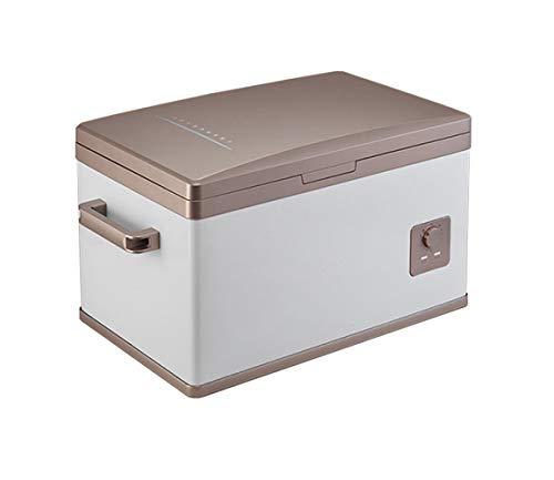 TUNBG Auto-koelkast, 30 liter, draagbare compressor, koelkast, vriezer, autokoelkast, warmbox voor reizen, camping, picknicks, koelbox, goud-50 l