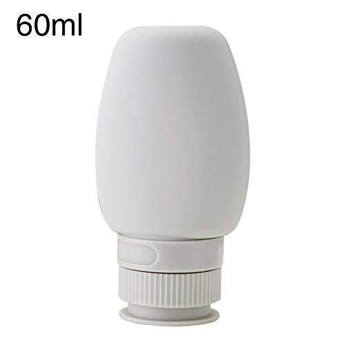 Reise-Flasche, 60 ml, 80 ml, breite Öffnung, weiche Gesichtscreme, tragbare Salon-Reinigung, Reise-Flasche, nicht null, grau, 60ml