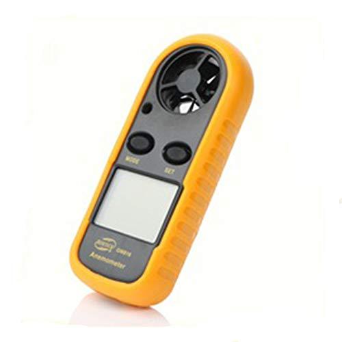 Fimeonee anemómetro Digital, medidor de Velocidad del Viento portátil para medir la Velocidad del Viento, sensación térmica y Temperatura, Apto para navegación, Aire Acondicionado