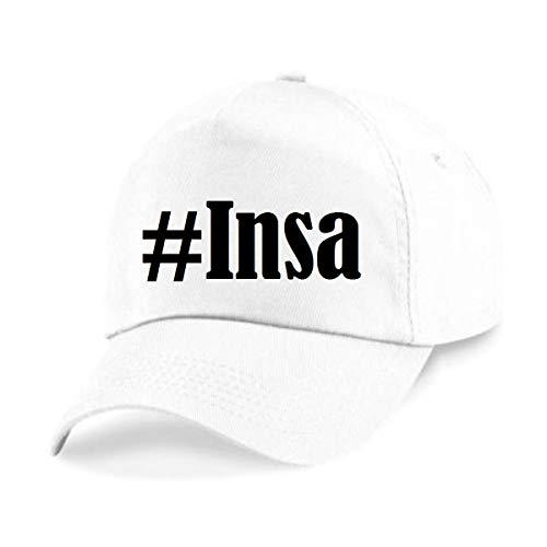Reifen-Markt Base Cap Hashtag #Insa Größe Uni Farbe Weiss Druck Schwarz