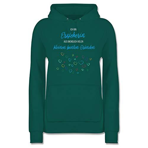 Sonstige Berufe - Erzieherin aus vielen kleinen Gründen - L - Türkis - Erzieherin Pullover Damen - JH001F - Damen Hoodie und Kapuzenpullover für Frauen