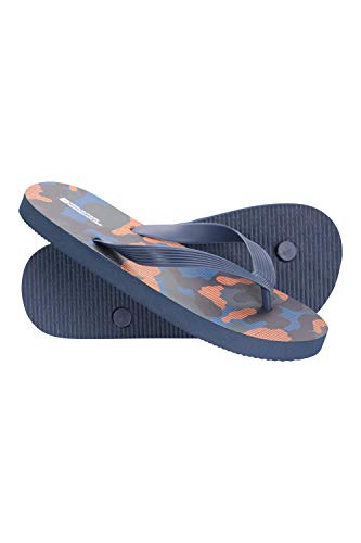 Mountain Warehouse Sunset Kids Flip Flops- Lightweight Summer Shoes & Sandals for Boys & Girls. Great for In The Garden, at Home, On The Beach & Holidays Blau Kinder-Schuhgröße 37 DE