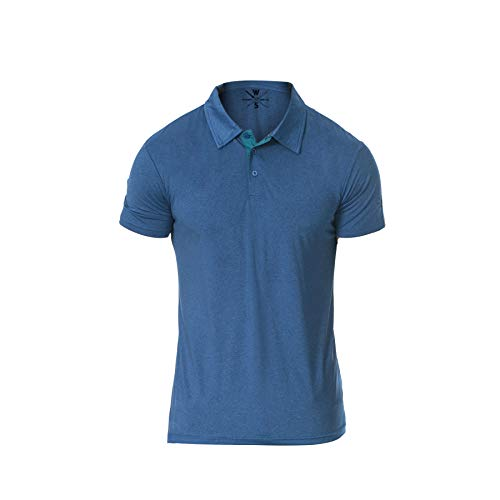 Warriors & Scholars Polo Shirts for Men - Mens Golf Dry Fit Polos Dri Fit Shirt