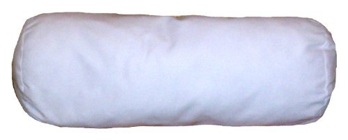 ReynosoHomeDecor COVER-6x16 Inch White Cotton-Blend Zippered Bolster Cylindrical Pillow Cover