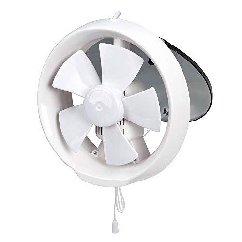 Konesky Ventiladores extractores de ventilación Silence, ventilador de escape de baño de 6 pulgadas / 8 pulgadas, control de cuerda de ventilador de escape montado en la ventana