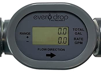 Flowmeter 1  Irrigation 2 Wire Pulse Powered with Display Compatible with Rachio and Spruce Smart Irrigation Systems