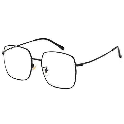 Cyxus Blaulichtfilter Brille, Retro Vintage Groß Quadratische Computer Schwarz Brillen für Damen Herren