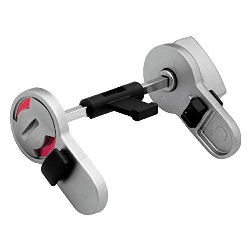 WC Umrüst-Set - Umrüstung von Buntbart- bzw. Profilzylinder Einsteckschloss auf WC (außen frei/besetzt Anzeige, innen Knauf) (für Buntbart-Schlösser)
