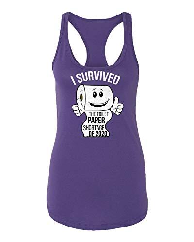 Sheki Apparel Coronavirus 2020 Toilet Paper Shortage Covid 19 Humor Women's Racerback Tank Top (Purple, XX-Large)