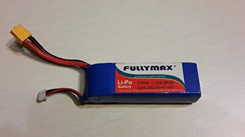 Fullymax Lipo Akku 11.1V 2700mAh 40C passend für RC Drohne Xcite Rocket 400GPS und Cheerson CX20 Quadrocopter GPS