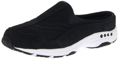 Easy Spirit womens Traveltime Clog Navy White 8 M US