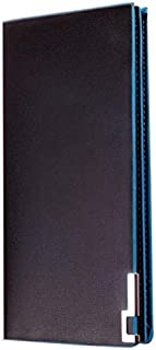 Men's Wallet Long Thin Wallet Men's Wallet Flip Wallet Suitable for Travel Shopping Casual Business (Color : Blue, Size : S)