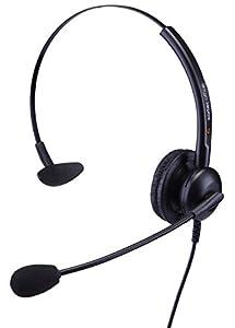 eartec office Single Ear Headset for Panasonic KX-NT546, KX-NT551, KX-NT553, KX-NT556 & KX-NT560 IP Phone + FREE 2.5ml Jack Lead - QD011