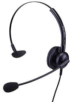 Single Ear Headset for Panasonic KX-DT321 KX-DT333 KX-DT343 KX-DT346 KX-DT543 & KX-DT546 Digital Telephones + Free 2.5ml Jack Lead - QD011