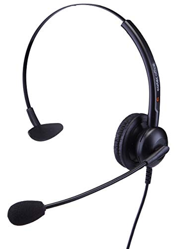 eartec Office Headset für Alcatel Lucent IP 4028 EE,4029, 4038 EE,4039 & 4068 EE Voip Telefone, inkl. 3,5 ml Klinkenstecker, QD012