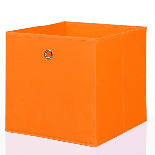 Mixibaby Faltbox Faltkiste Regalkorb Regalkiste Regalbox Aufbewahrungsbox Spielkiste Staubox Korb, Farbe:Orange