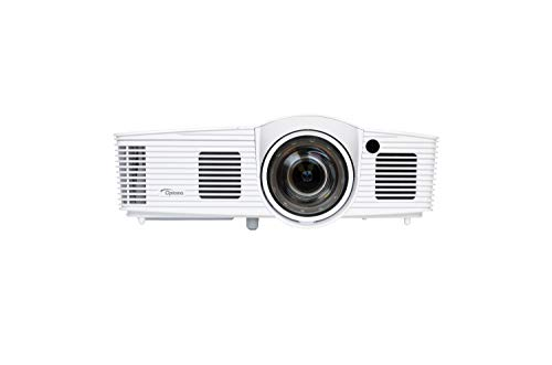 Optoma EH200ST  DLP-Projektor (Kurzdistanz,  1080p, 3000 Lumen, 20.000:1 Kontrast, 2X HDMI, MHL) Weiß