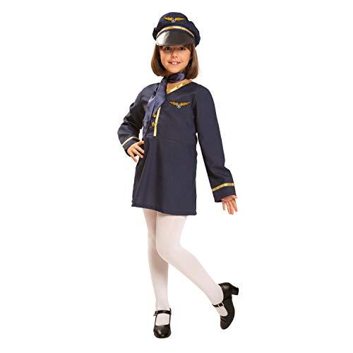 My Other Me Me-200903 Pilotos Disfraz de azafata para niña, 7-9 años (Viving Costumes 200903)