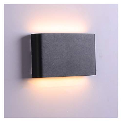 Lámpara de pared LED moderna minimalista IP65 Lámpara de escalera impermeable Interior del hotel moderno junto a la cama sala de estar dormitorio carcasa blanca, luz blanca cálida Variedad de carcasa