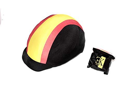 KLES´S Funda para Casco de Equitación Diseño Bandera de España. Equestrian Hat Cover.