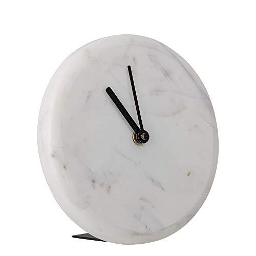 Bloomingville Horloge de table en marbre blanc