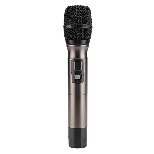 Micrófono inalámbrico UHF/VHF Micrófono de Karaoke Bobina móvil Cardioide Anillos antivuelco Soportes...