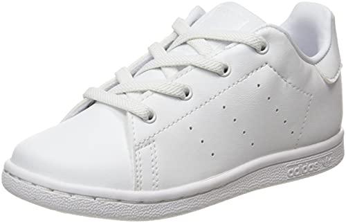 adidas Stan Smith El I, Scarpe da Ginnastica, Ftwr White/Ftwr White/Ftwr White, 27 EU