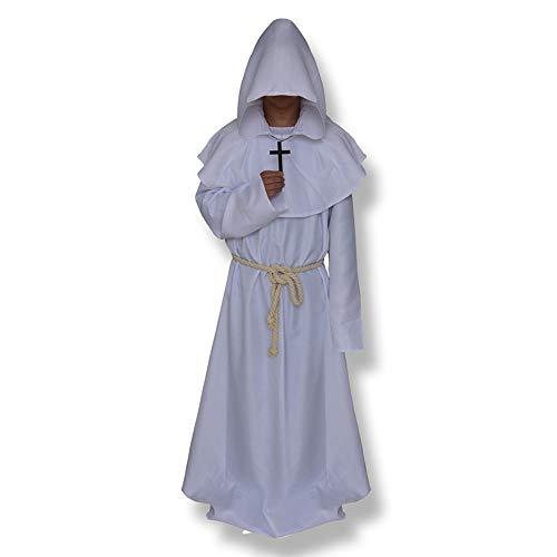 GUOYIHUA - Disfraz de Bruja para Halloween Blanco XL