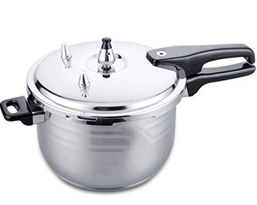 Stainless steel pot thickened 304 pressure cooker double bottom pot induction cooker universal 18C-24 cm suitable for home and commercial use 18CM, 20CM, 22CM, 24CM (Color : Silver, Size : 22CM)