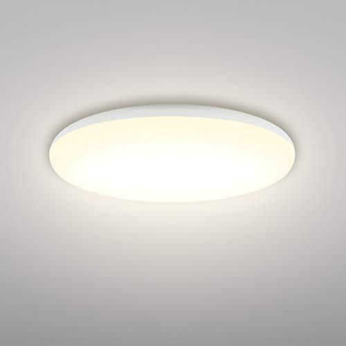Linkind 18W Deckenlampe, 1600lm Warmweiß Deckenleuchte, IP44 Wasserfest Pendelleuchten, Ø25cm 3000K LED Lampen, ideal für Badezimmer Balkon Flur Küche Wohnzimmer, Badezimmer, Küchenlampe