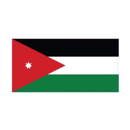 Sticker vlag Jordan Jordanië, zelfklevend 4 cm