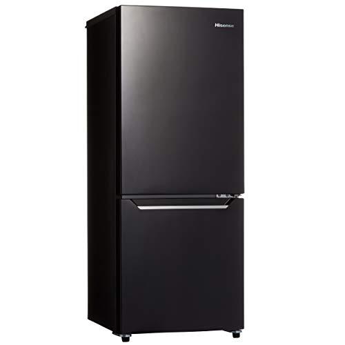ハイセンス 冷凍冷蔵庫(幅48cm) 150L 2ドア 右開き HR-D15CB 自動霜取機能付き 一人暮らし パールブラック
