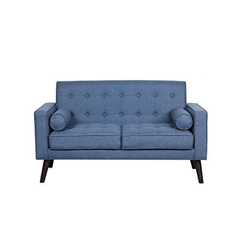 HTI-Line Zweisitzer Azaria Zweisitzer Couch Sitzmöbel Polstergarnitur Blau