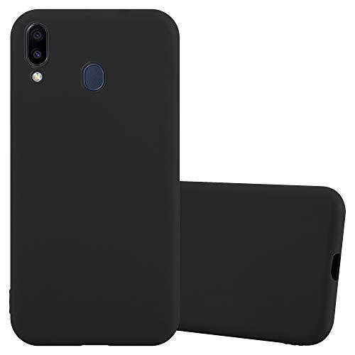 Cadorabo Funda para Samsung M20 en Candy Negro - Cubierta Proteccíon de Silicona TPU Delgada e Flexible con Antichoque - Gel Case Cover Carcasa Ligera