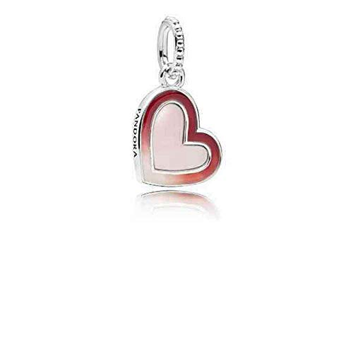 Pandora Asymmetric Heart Of Love Red One Size Charm 797820ENMX