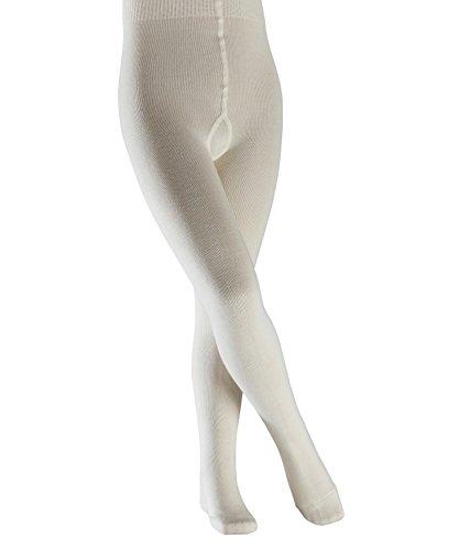 FALKE Unisex Kinder Comfort Wool K TI Strumpfhose, blickdicht, Weiß (Woolwhite 2060), 110-116