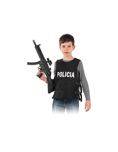 DISBACANAL Chaleco policía Infantil - -, 10 años