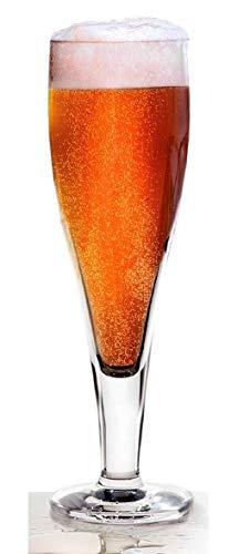 Dkristal Excelsior Copa de Cerveza, Cristal, 7x7x23 cm, 6 Unidades