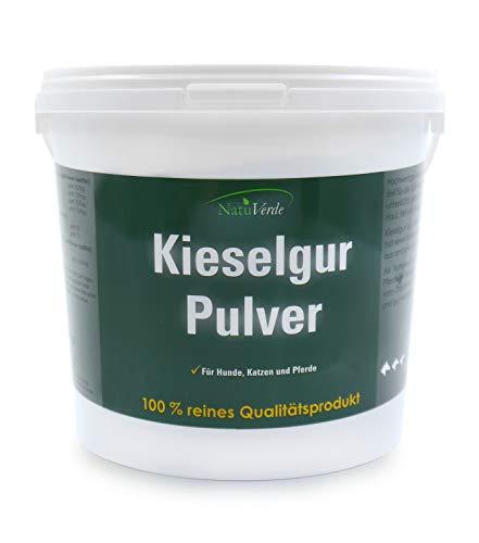 NatuVerde reines Kieselgur, 1.000 g, für Hunde, Katzen und Pferde