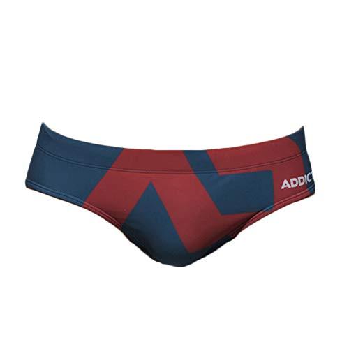 Quge Costumi da Bagno da Uomo Stampato Slip Bikini Boxer da Bagno Surf Spiaggia Mare Pantaloncini Beachwear Blu M