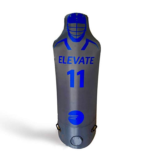 Elevate Sports Pro Inflatable Defender Dummy pop up Mannequin w/Battery Pump. Great for Lacrosse, Soccer, Field Hockey, Football and Basketball.