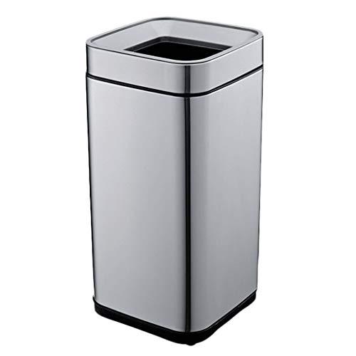 XT Bote de basura de acero inoxidable 8L, 15L, 20L, 25L, 30L hogar sala de estar dormitorio baño cocina hotel bote de basura Artículos para el hogar (Size : 25L)