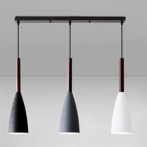 YWSZJ Araña de Restaurante Moderna araña nórdica Creativa de Tres Cabezas lámpara de Noche con Personalidad Mesa...