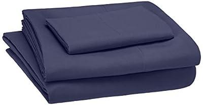 AmazonBasics Kid's Sheet Set - Soft, Easy-Wash Lightweight Microfiber - Twin, Twilight Blue