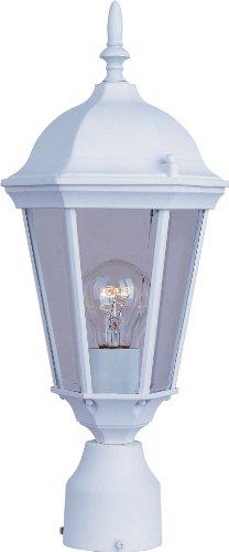 Maxim 1001WT Westlake Clear Glass Outdoor Post/Pole Mount, 1-Light 60 Watt, 19